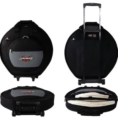 Ahead Bags - AA6024W - Deluxe Heavy Duty Cymbal Case W/Wheels, Handles And Shoulder Strap