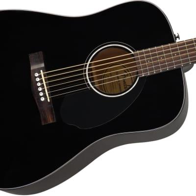 Fender CD-60S Solid Top Black Acoustic Guitar for sale