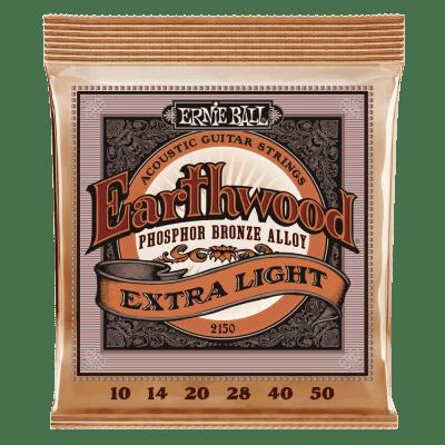 Ernie Ball Earthwood Phosphor Bronze Acoustic Guitar Strings - Extra Light