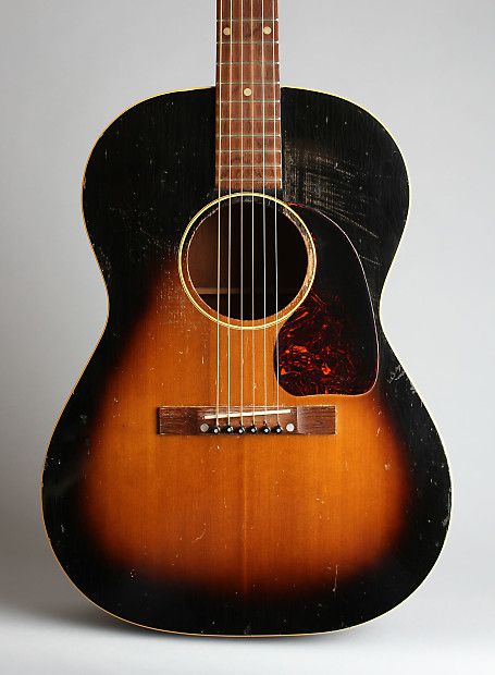 gibson lg 1 flat top acoustic guitar c 1952 black reverb. Black Bedroom Furniture Sets. Home Design Ideas