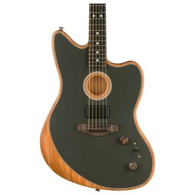 Fender American Acoustasonic Jazzmaster Acoustic-Electric Guitar, Tungsten