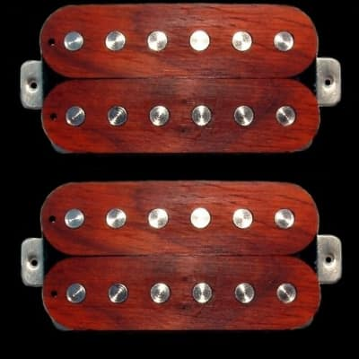 GuitarHeads LUMBERBUCKER Wood Top Humbucker Pickups - Bridge/Neck Set of 2 - ROSEWOOD