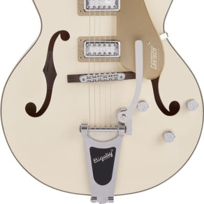 """Gretsch G5410T Limited Electromatic """"Tri-Five"""" in Two-Tone Vintage White and Casino Gold"""