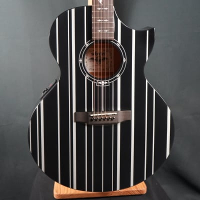Schecter SYN AC-GA SC Synyster Gates Signature Acoustic/Electric Gloss Black w/ Silver Pinstripes