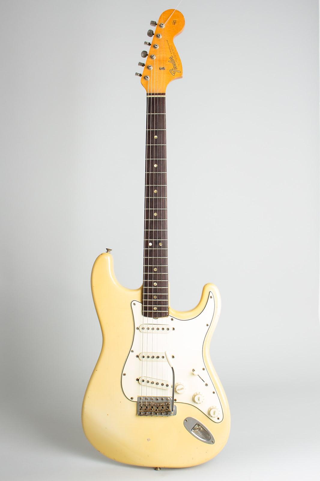 Fender  Stratocaster Solid Body Electric Guitar (1966), ser. #133536, original black tolex hard shell case.