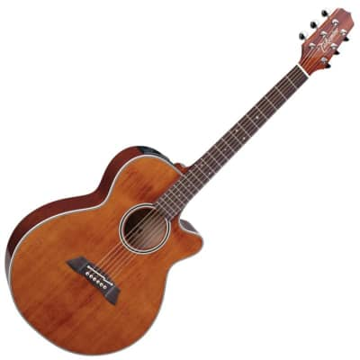 Takamine EF261S FXC Grand Concert, Gloss Antique Stain for sale
