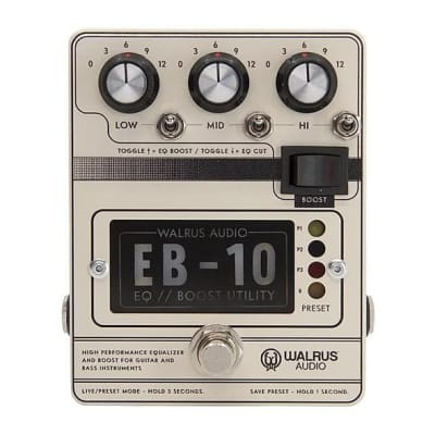 Walrus Audio EB-10 Preamp // EQ // Boost - Cream for sale