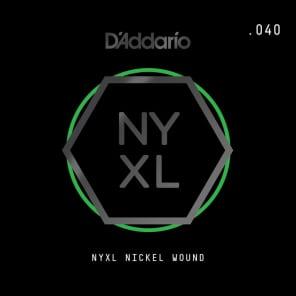 D'Addario NYXL Nickel Wound Electric Guitar Single String .040
