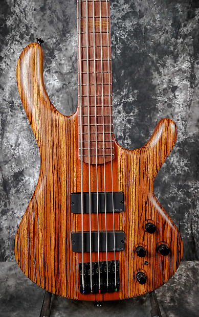 fleenor 5 string electric bass zebrawood mahogany narrow reverb. Black Bedroom Furniture Sets. Home Design Ideas