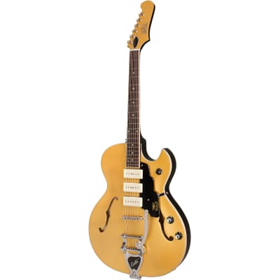 Guild Newark St. Collection Starfire I Jet 90 Satin Gold Semi-Acoustic Guitar with Tremolo for sale