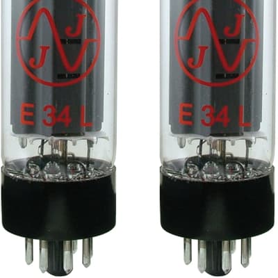 JJ Electronic E34L Power Vacuum Tube MATCHED PAIR (T-E34L-JJ-MP)