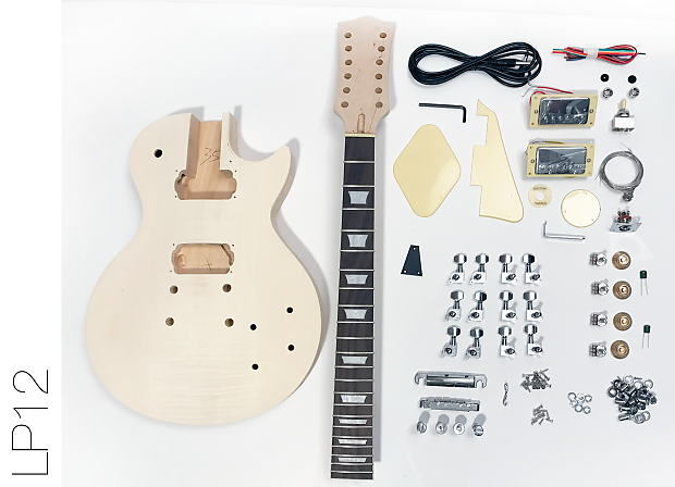 The Fretwire DIY Electric Guitar Kit LP 12 String Style Build Your Own Unfinished