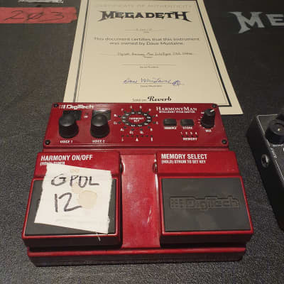 Dave Mustaine's personally owned Megadeth Digitech HarmonyMan Intelligent Pitch Shifter! Signed COA