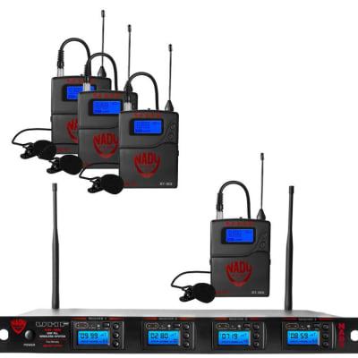 Nady 4W-1KU LT Quad True Diversity 1000-Channel UHF Wireless Lavalier Microphone System