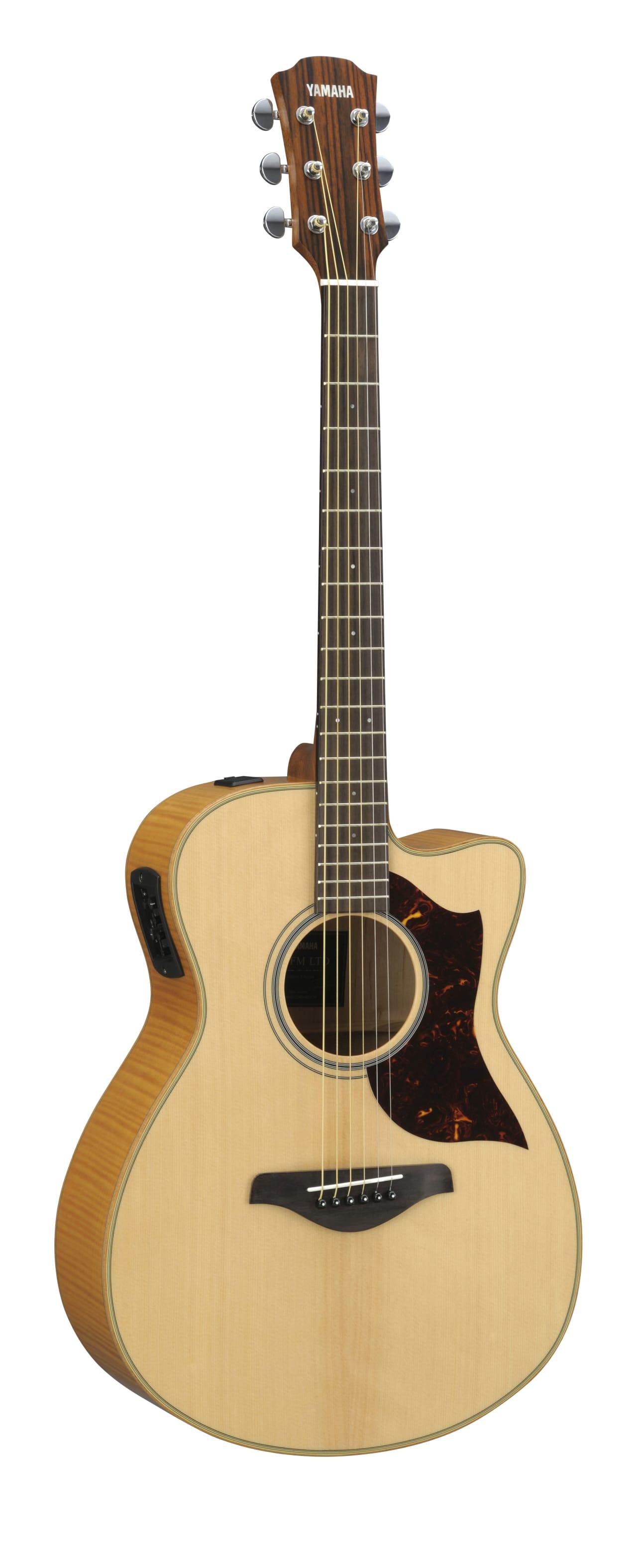 Yamaha ac1 flame maple acoustic electric guitar w hard for Yamaha fg830 specs