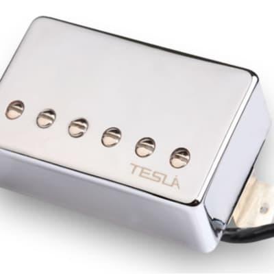 Tesla VR-NITRO Humbucker Guitar Pickup - Bridge / Chrome