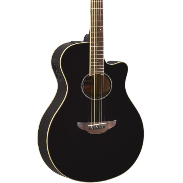 Yamaha APX600. Thinline Acoustic-Electric Guitar, Rosewood Fingerboard, Black image