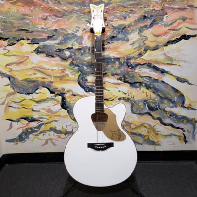 Gretsch G5022CWFE Rancher Falcon Acoustic Electric Jumbo Guitar Fishman Pickup System White for sale