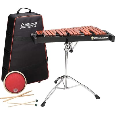 Ludwig Musser Xylophone Kit 2.5 Octave With Pad, Stand, Bag with wheels