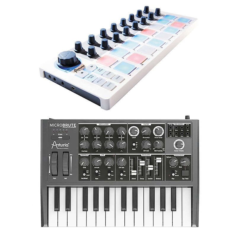 arturia microbrute mini analog synthesizer with arturia reverb. Black Bedroom Furniture Sets. Home Design Ideas
