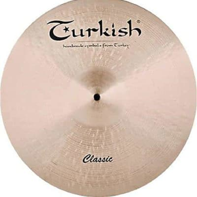 """Turkish Cymbals 21"""" Classic Ride Sizzle"""