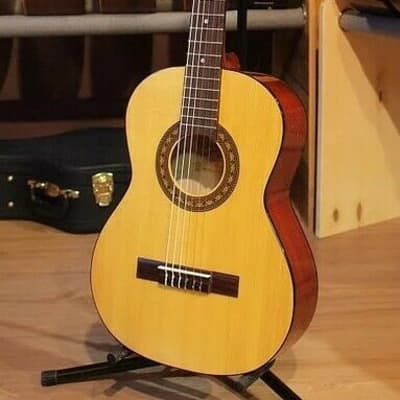 Hora Classical Guitar & Case Laura N117 Solid Spruce Top Nylon Strings Full Size for sale