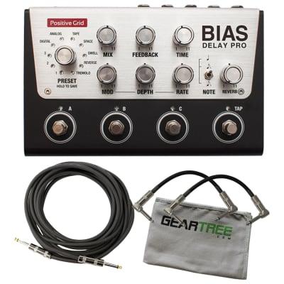 Positive Grid BIAS Delay Pro 4 Customizable Pedal Bundle