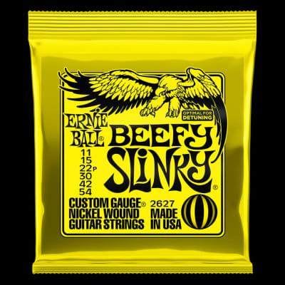 Ernie Ball 2627 Beefy Slinky Nickel Wound Electric Guitar Strings - 11-54