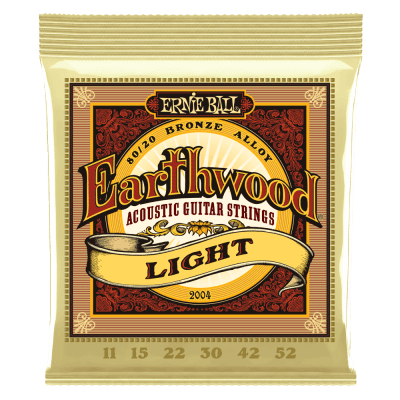 Ernie Ball Ernie Ball Earthwood Light 80/20 Bronze Acoustic Guitar Strings- 11-52 Gauge for sale