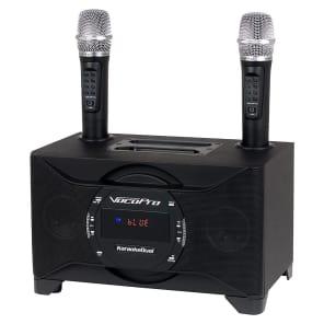 VocoPro KaraokeDual 100-Watt Tablet/Smart TV Karaoke System with 2 Wireless Microphones