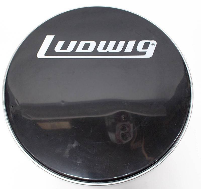 ludwig smooth front black bass drum head 22 in reverb. Black Bedroom Furniture Sets. Home Design Ideas
