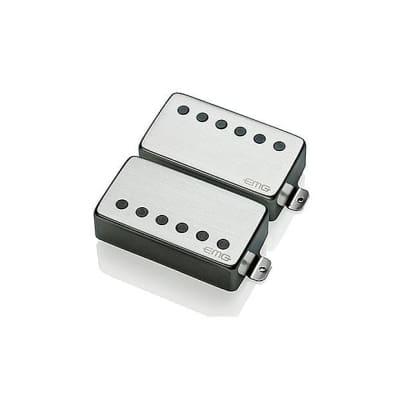 EMG 57/66 Electric Guitar Pickup Set, Brushed Chrome