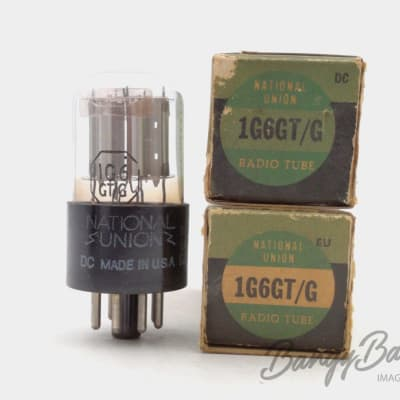 2 Vintage National Union 1G6GT/CV773 Twin Triode Amp. Tube Valve- BangyBang Tubes