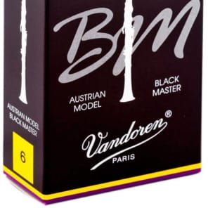 Vandoren CR187T Black Master Traditional Bb Clarinet Reeds - Strength 6 (Box of 10)