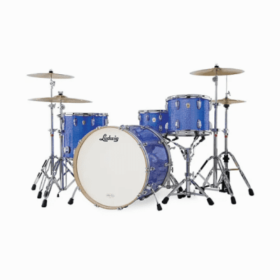 """Ludwig Classic Maple Power 4 Outfit 11x13 / 16x16 / 18x24"""" Drum Set"""