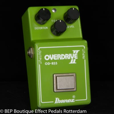 """Ibanez OD-855 Overdrive II 1981 s/n 140622  Japan with RC4558P Malaysia op amp, """"R"""" Logo"""