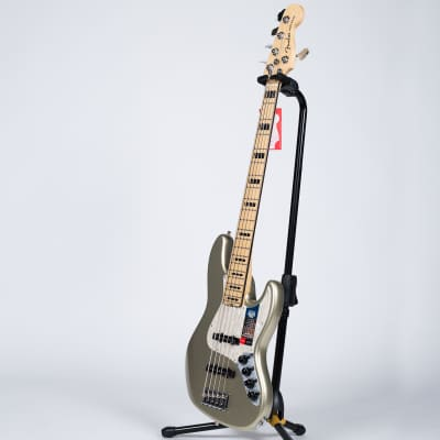Fender American Elite Jazz Bass V - Maple, Champagne for sale
