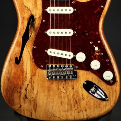 Fender Custom Shop Artisan Spalted Maple Thinline Stratocaster - Aged Natural/2021 Fender Custom Sho