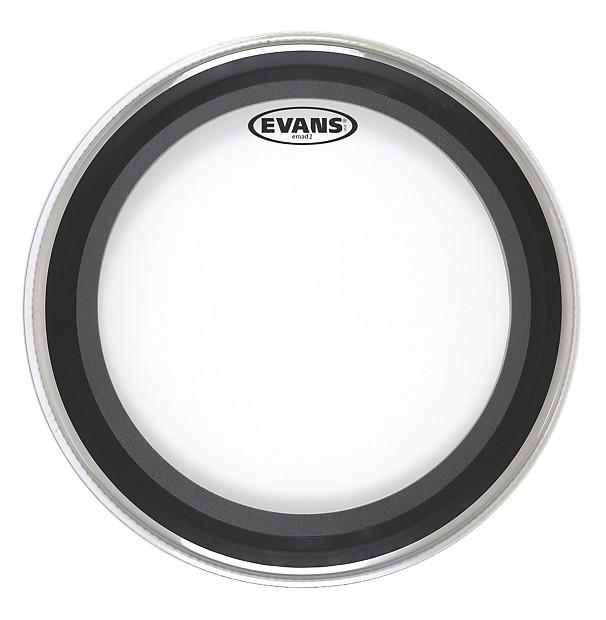 evans bd22emad2 22 emad2 batter bass drum head clear reverb. Black Bedroom Furniture Sets. Home Design Ideas