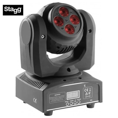 Stagg SLI-HBSPIN-1 HeadBanger Spin Double-Sided Moving Head w/2 x 4 x 10-Watt RGBW LED