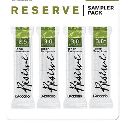 Reeds, D'Addario Tenor Sax Reserve 2.5/3/3+ Sample Pack