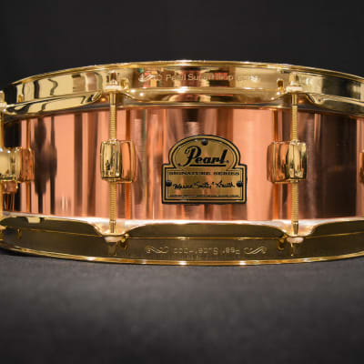 """Pearl MS1440 14x4"""" Marvin """"Smitty"""" Smith Signature Copper Snare Drum"""