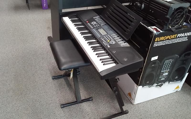 5d05e7b1d96 Description; Shop Policies. Used ROCK JAM RJ-561 KEYBOARD Keyboard 49-Key Includes  stand and seat