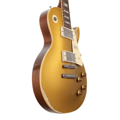 Gibson 1957 Les Paul Standard Electric Guitar - Gold Top Heavy Aged M2M - New / 78238 for sale