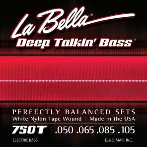 La Bella 750T Deep Talkin Bass White Nylon Tapewound Bass Strings - Light (50-105)