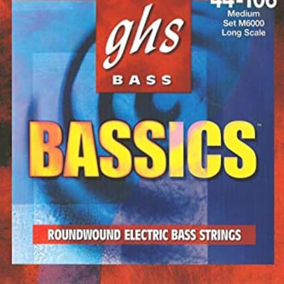 GHS M6000 Bass Bassics 4-String Bass Set, 44-106
