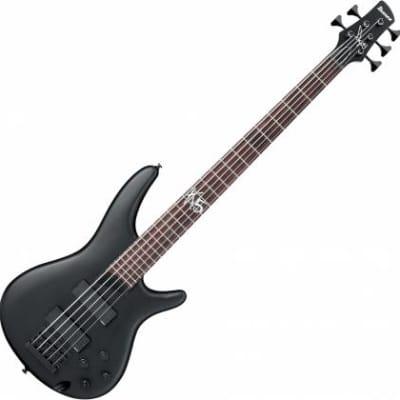 Ibanez K5BKF Fieldy (Korn) 5-String Black Flat for sale