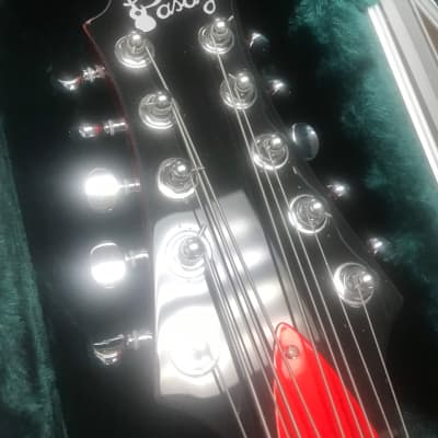 Pasaye  Bajo quinto new red with SKB case and EMG pickup installed