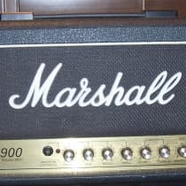 Marshall JCM 900 Model 2500 SL-X 50-Watt Hi Gain Master Volume Head 1990s Black image