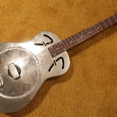 Fender FR-48 Resonator Guitar NaturallyFaded Chrome Good Shape Some Dings Long Out Of Stock!